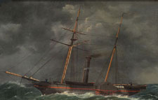 Image of the Robert J. Walker an iron-hulled steamer constructed in the 1840s by the United States Government.